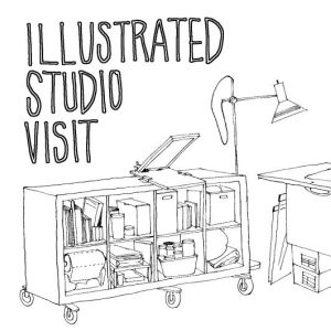 illustrated studio visit